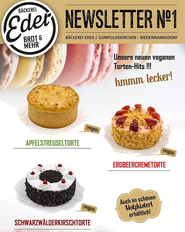 Vegane Torten bei Eder